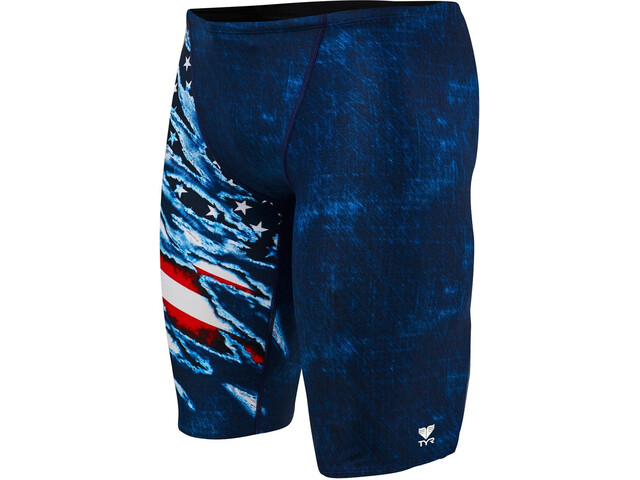 TYR Live Free Allover Jammer Hombre, red/white/blue